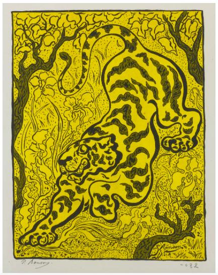 Paul Elie Ranson, Tigre Dans Les Jungles,1893, Estimate: $10,000 - 15,000