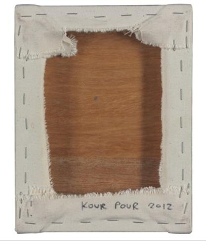 Kour Pour, Mousepad, 2012 (reverse)