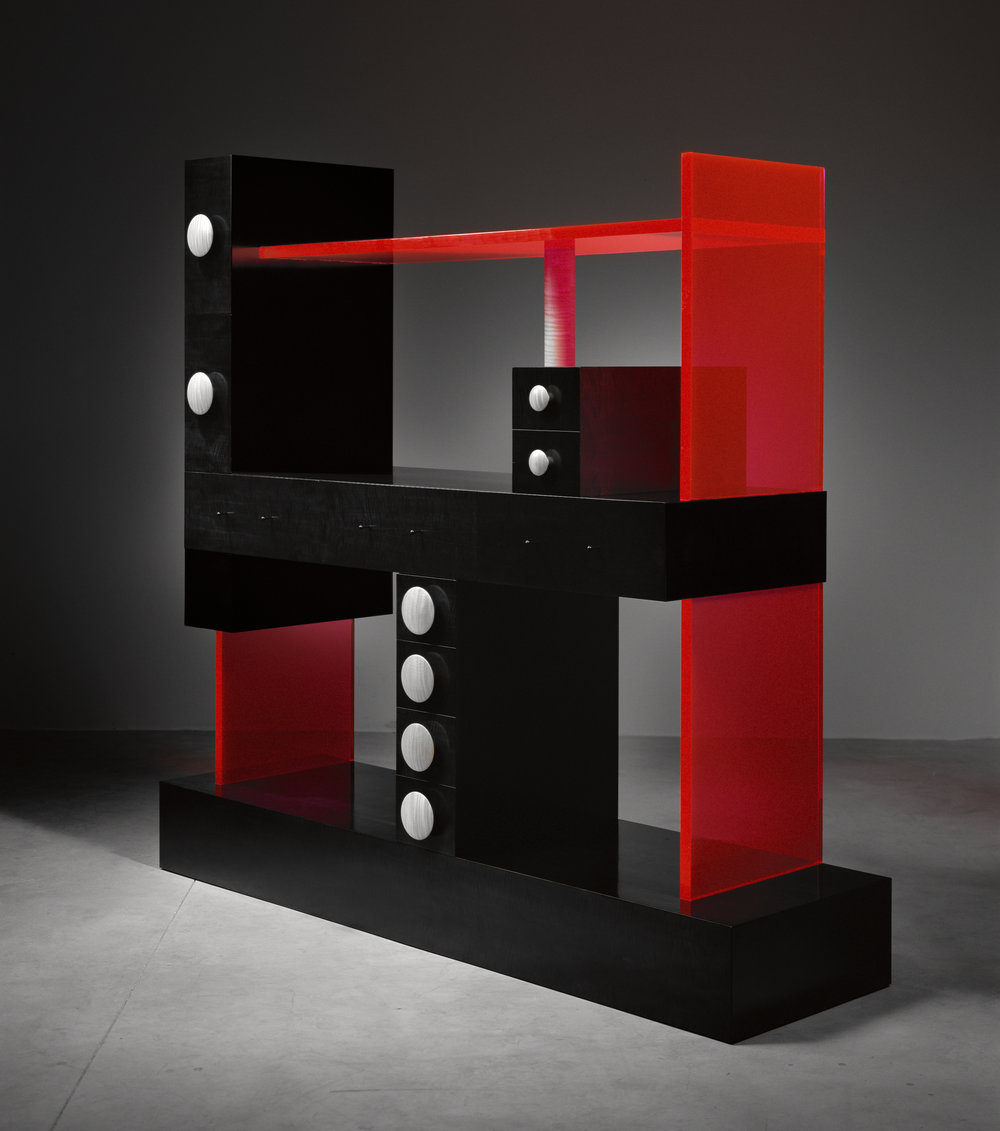 Ettore Sottsass, Cabinet No. 56, 2003, Image Courtesy of The Gallery Mourmans ©Studio Ettore Sottsass Srl.