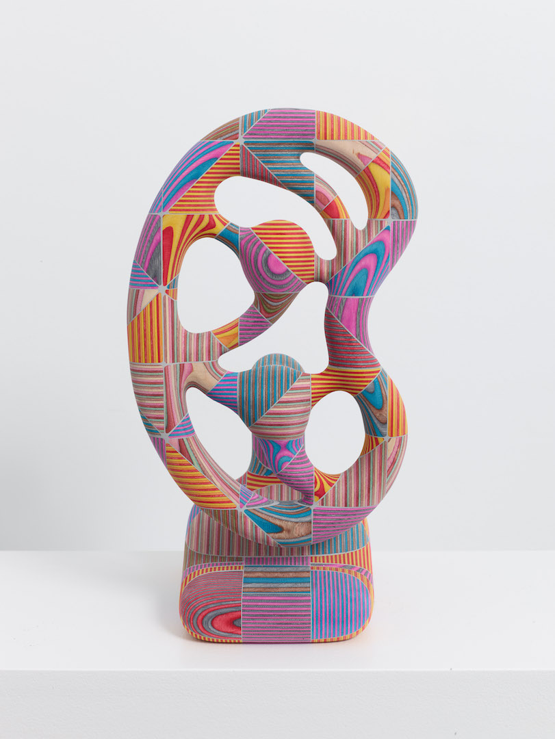 Bayne Peterson, Apollo, 2016, Dyed plywood, dyed epoxy, 14 3/8 x 8 x 7 1/4 inches Courtesy of the artist and Kristen Lorello Gallery, New York / Photo credit: Jeffrey Sturges