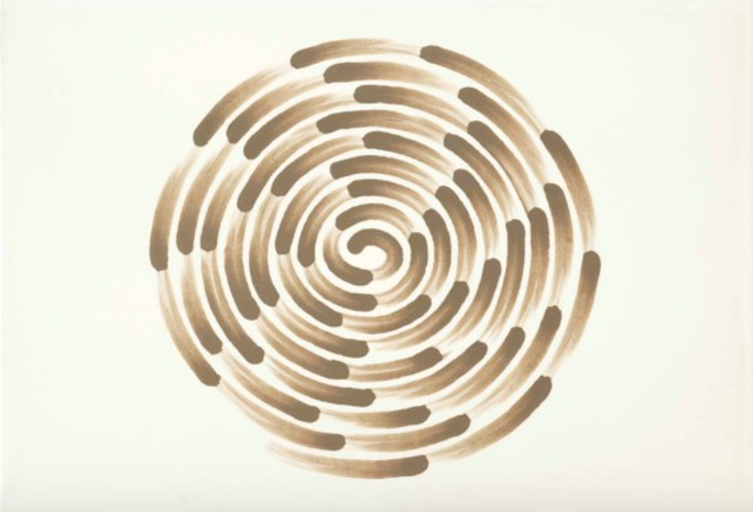 Richard Long, Mud Finger Spiral, Estimate $4,000 - 6,000