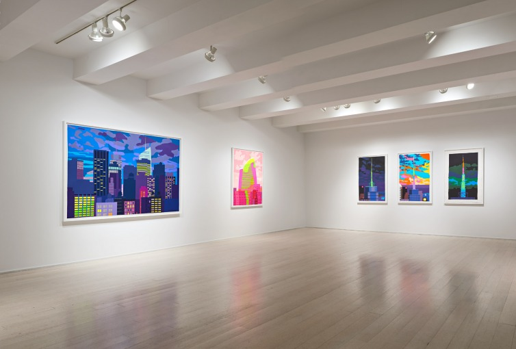 Daniel Heidkamp: Paper Cuts, Installation Shot, Pace Prints