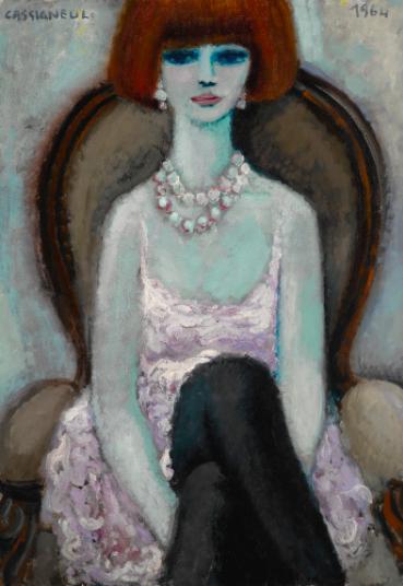 Jean-Pierre Cassigneul,La Femme Aux Bas Noirs, 1964 at Sotheby's Day Sale