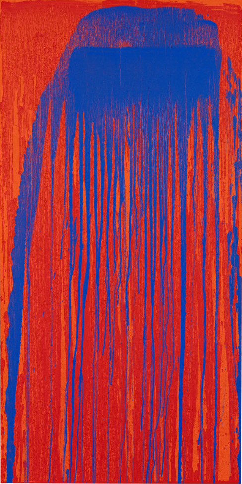 Pat Steir, Peacock Waterfall, 2001