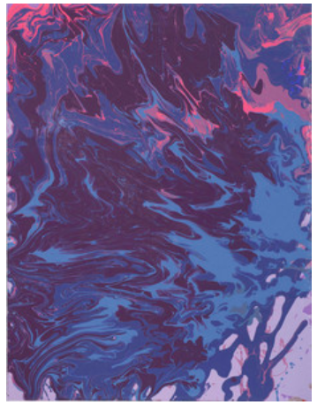 Leah Durner,darkvioletbluevioletpink pour, 2017