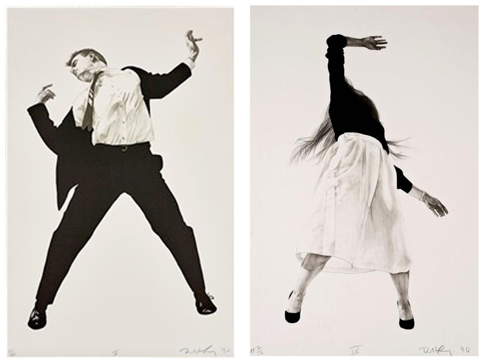 Robert Longo, Untitled V & IV, from Men in the Cities, 1990