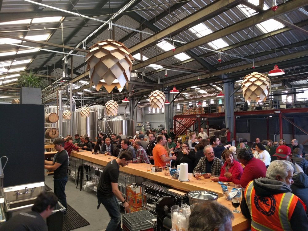 The amazing transformed tap room is a great place to host a private party!