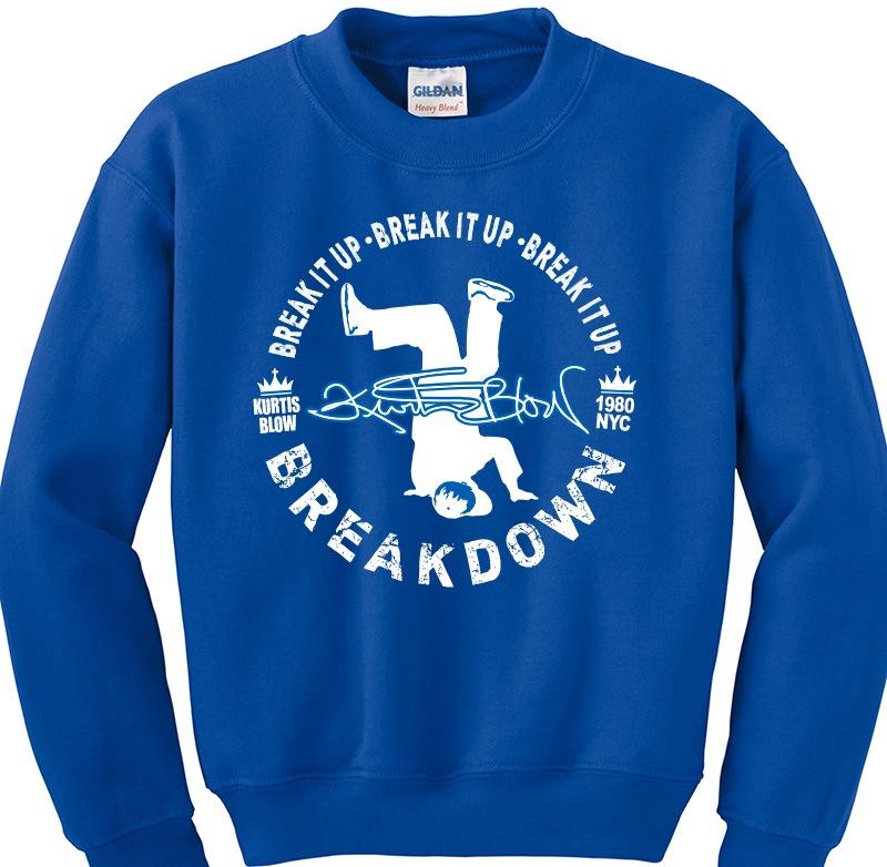 Kurtis Blow Breakdown Blue Crewneck