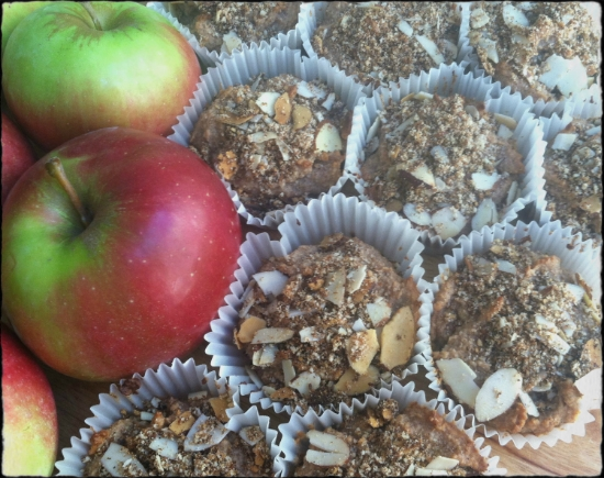 Paleo Apple Crumb Cakes