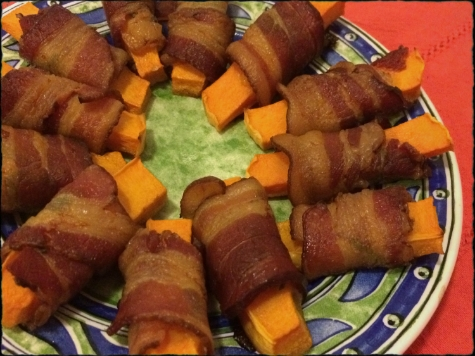 Bacon Wrapped Butternut Squash with Sage