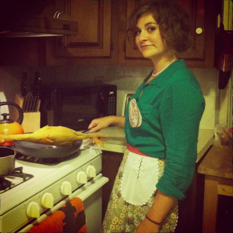 Me as Julia Child for Halloween