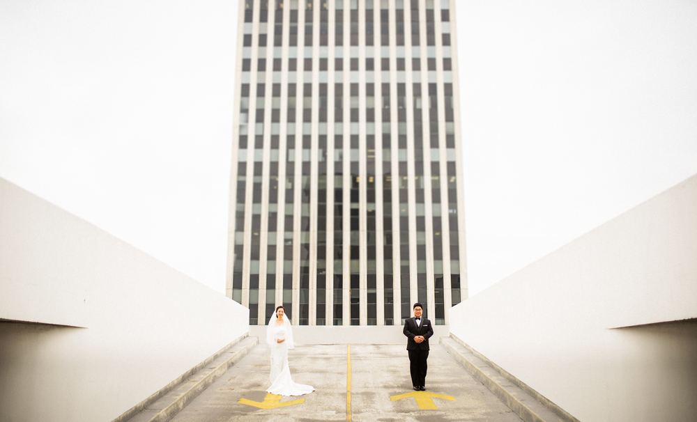 ©Isaiah & Taylor Photography - Destination Wedding Photographers - Downtown Los Angeles Parking Lot Rooftop Wedding-006.jpg