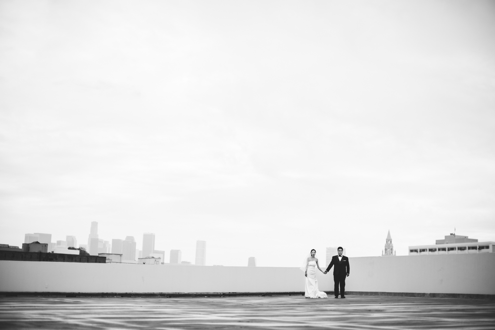 ©Isaiah & Taylor Photography - Destination Wedding Photographers - Downtown Los Angeles Parking Lot Rooftop Wedding-019.jpg