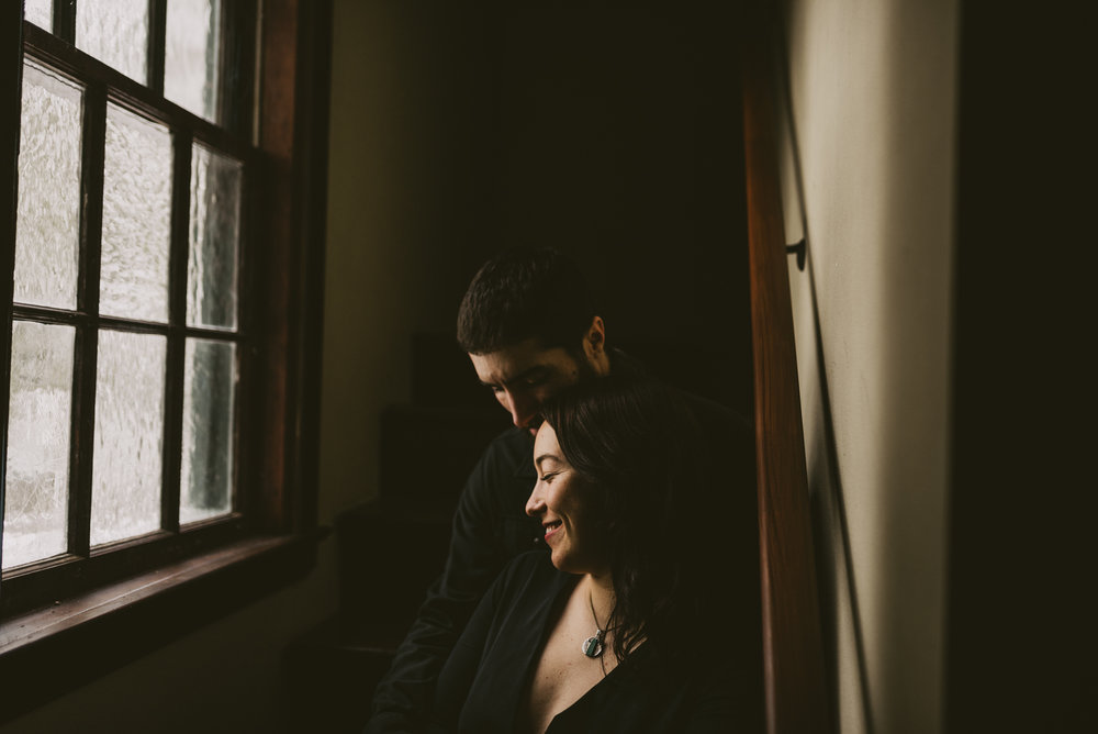 © Isaiah + Taylor Photography - Portland, Oregon Winter Forest Cabin Engagement-28.jpg