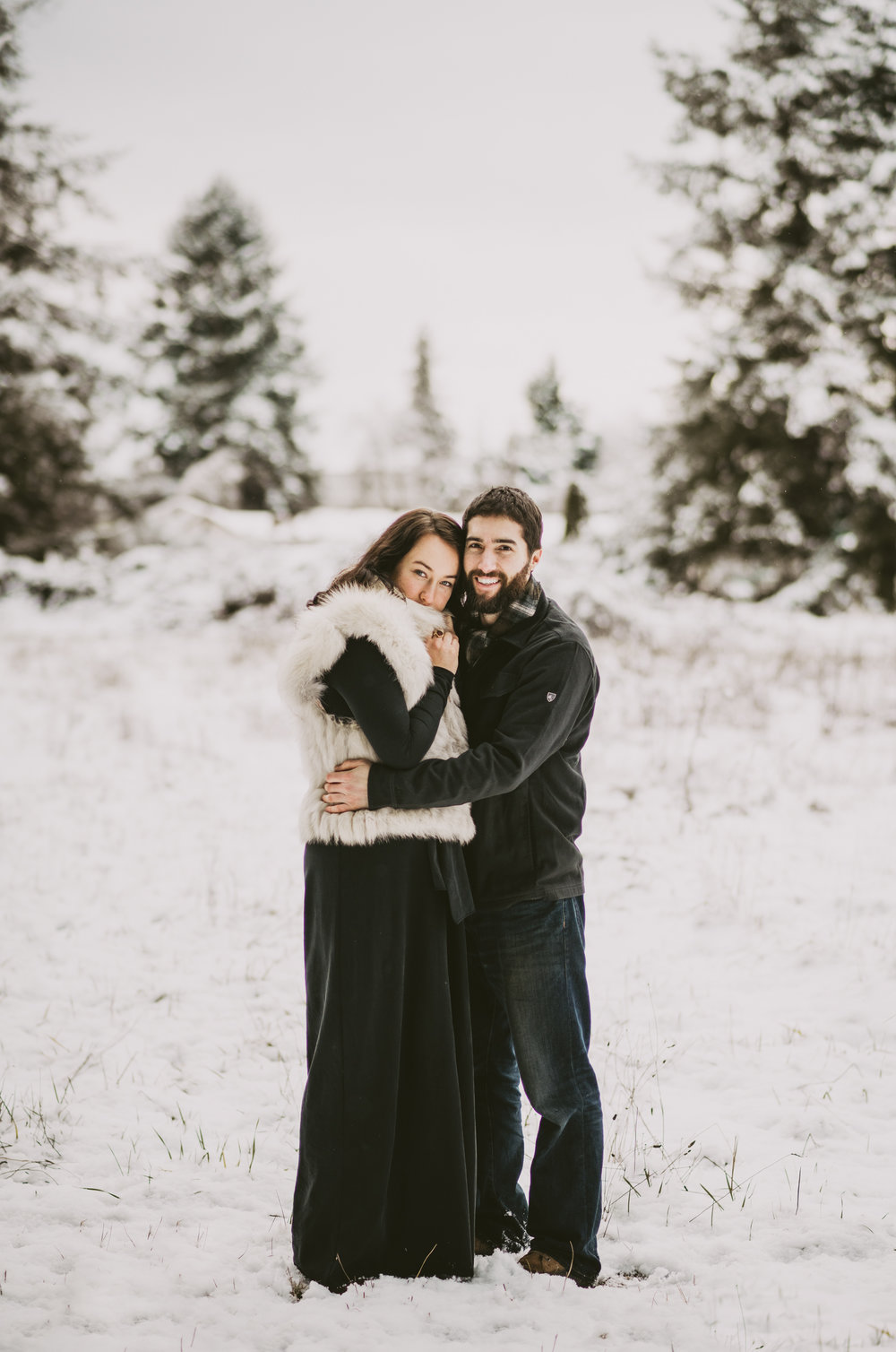 © Isaiah + Taylor Photography - Portland, Oregon Winter Forest Cabin Engagement-36.jpg