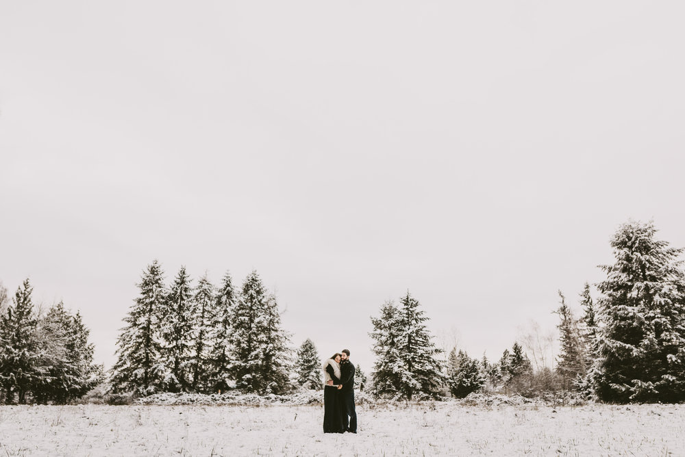 © Isaiah + Taylor Photography - Portland, Oregon Winter Forest Cabin Engagement-37.jpg