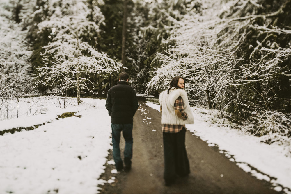 © Isaiah + Taylor Photography - Portland, Oregon Winter Forest Cabin Engagement-44.jpg