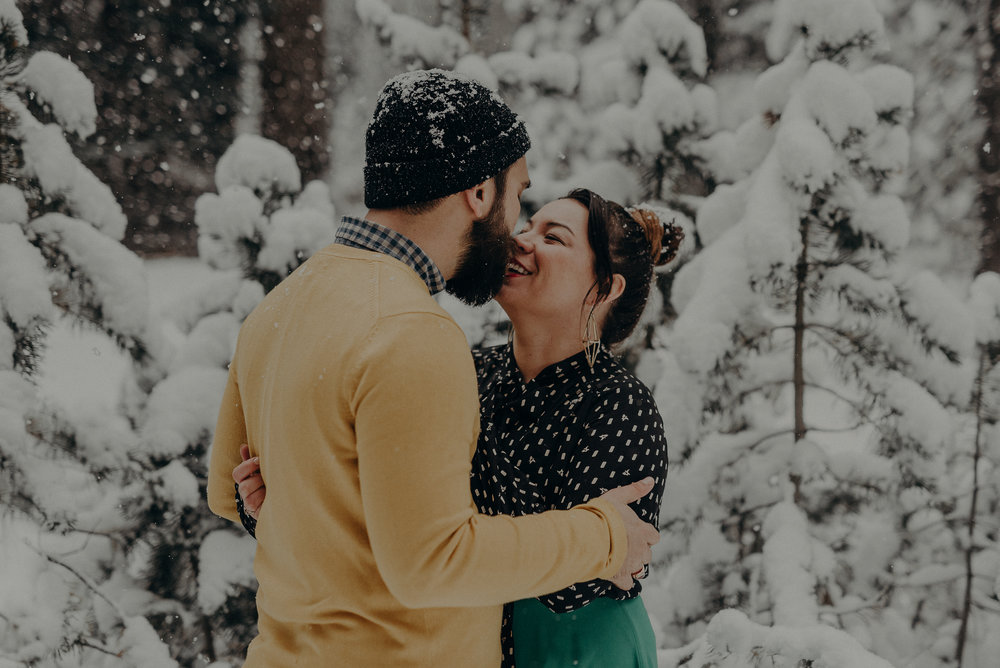 ©Isaiah + Taylor Photography - Los Angeles Wedding Photographer - Snowing engagement session-016.jpg