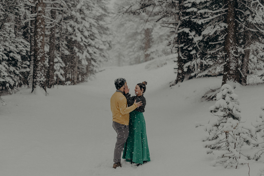 ©Isaiah + Taylor Photography - Los Angeles Wedding Photographer - Snowing engagement session-019.jpg