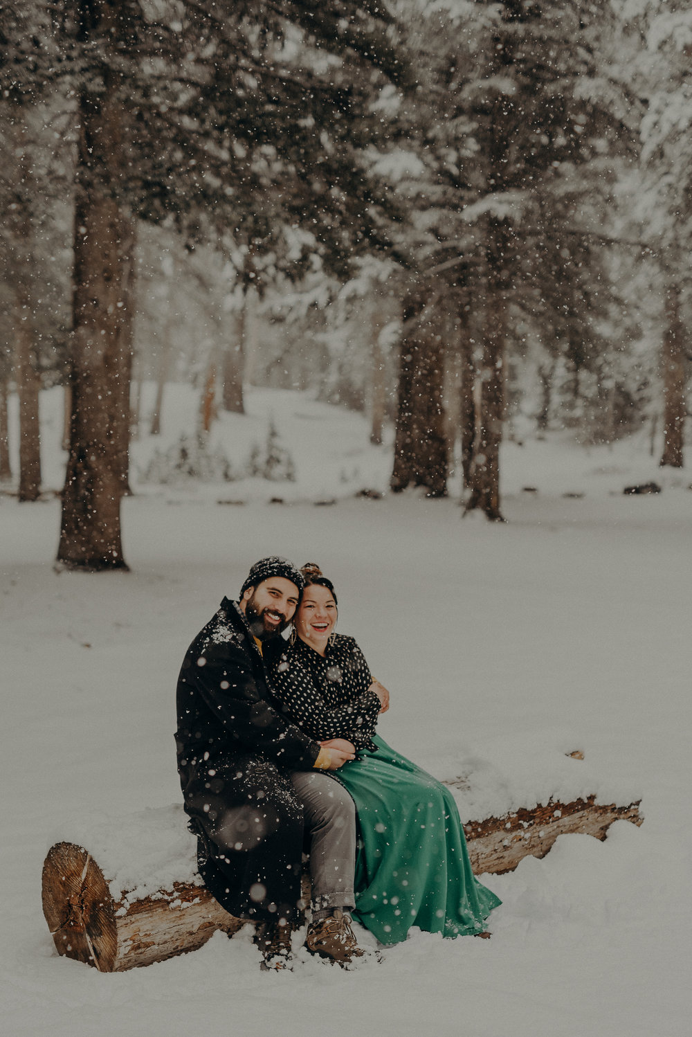 ©Isaiah + Taylor Photography - Los Angeles Wedding Photographer - Snowing engagement session-022.jpg