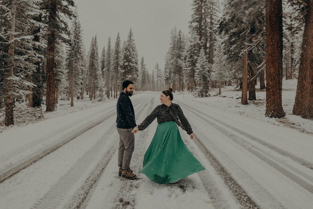 ©Isaiah + Taylor Photography - Los Angeles Wedding Photographer - Snowing engagement session-031.jpg