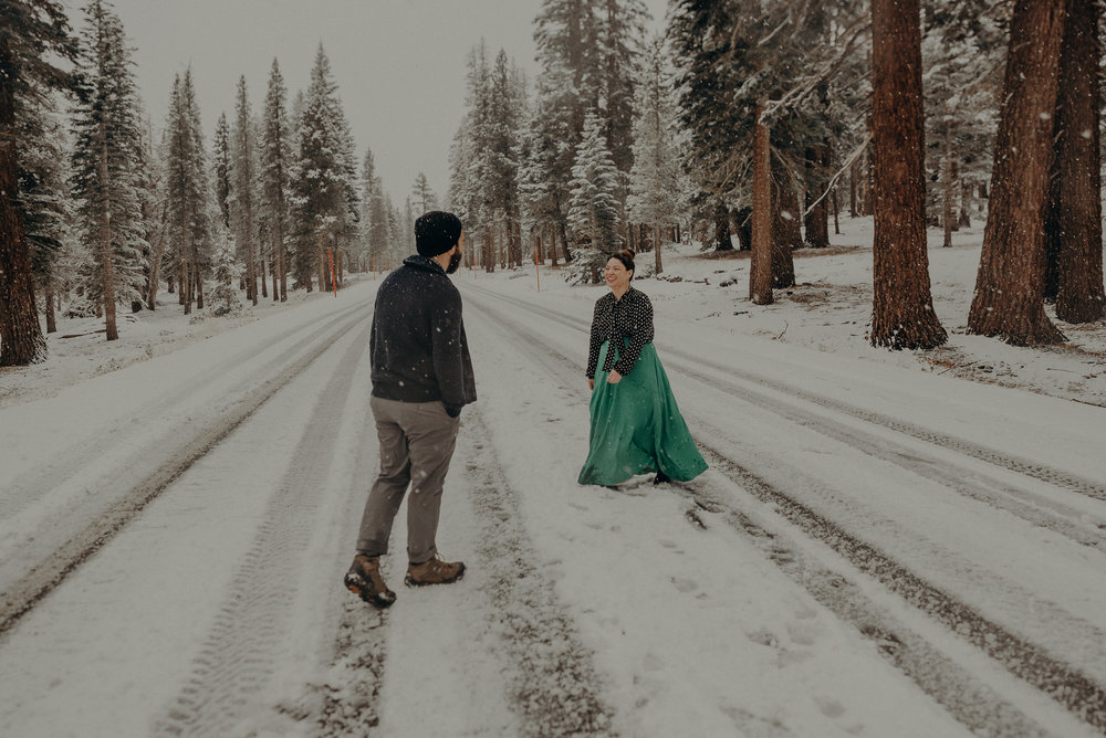 ©Isaiah + Taylor Photography - Los Angeles Wedding Photographer - Snowing engagement session-036.jpg