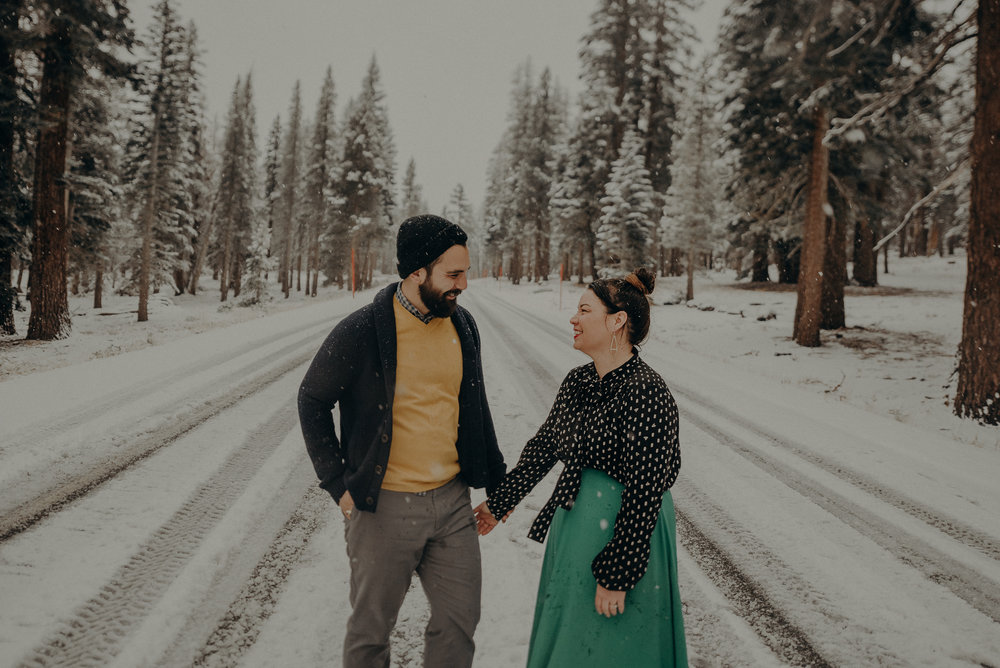 ©Isaiah + Taylor Photography - Los Angeles Wedding Photographer - Snowing engagement session-037.jpg
