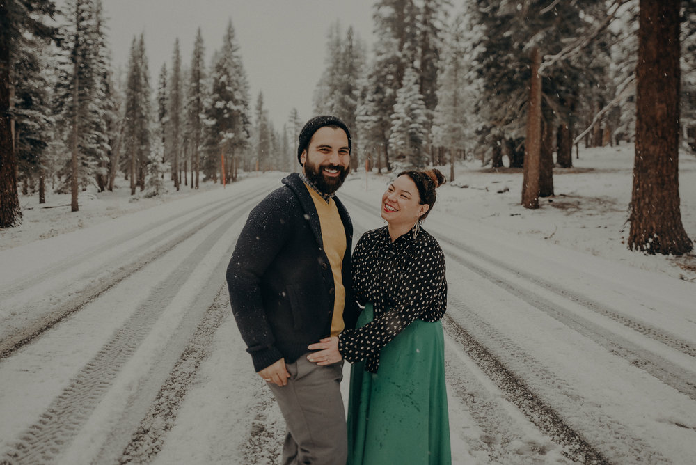 ©Isaiah + Taylor Photography - Los Angeles Wedding Photographer - Snowing engagement session-038.jpg