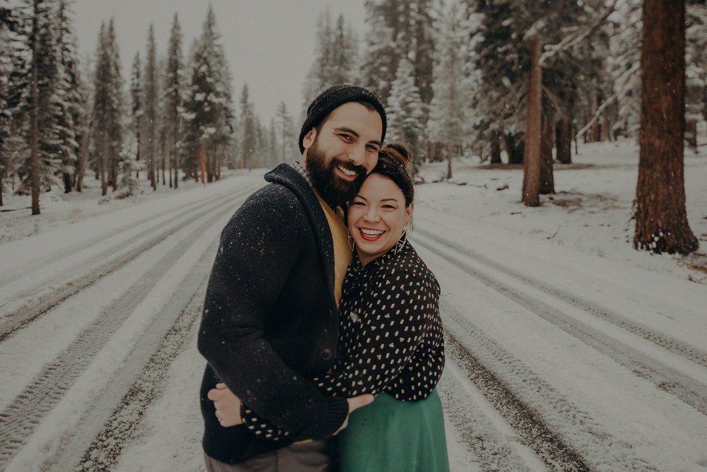 ©Isaiah + Taylor Photography - Los Angeles Wedding Photographer - Snowing engagement session-039.jpg