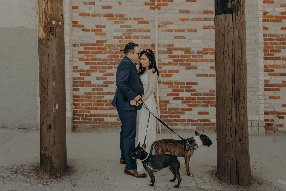 wedding with dogs, Los Angeles wedding photographer