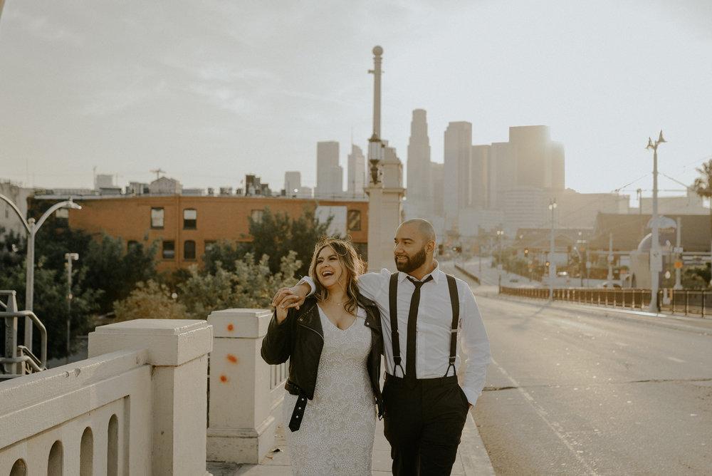los angeles wedding photographer - dtla wedding engagement session