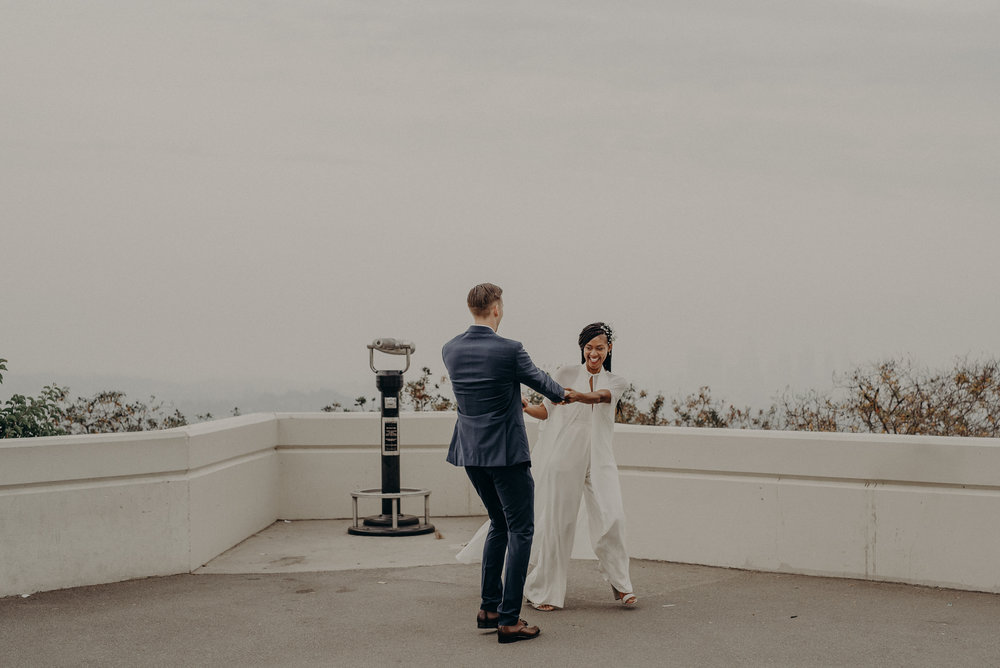 Los Angeles Wedding Photographer - Griffith Observatory Elopement - Long Beach wedding photo - IsaiahAndTaylor.com-066.jpg