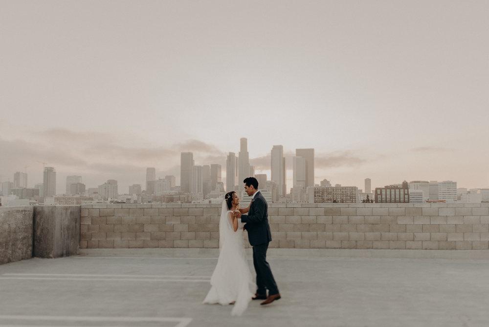 l.a. rooftop wedding landscape