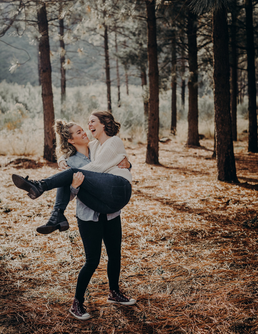 forest engagement session LGBT wedding photographer