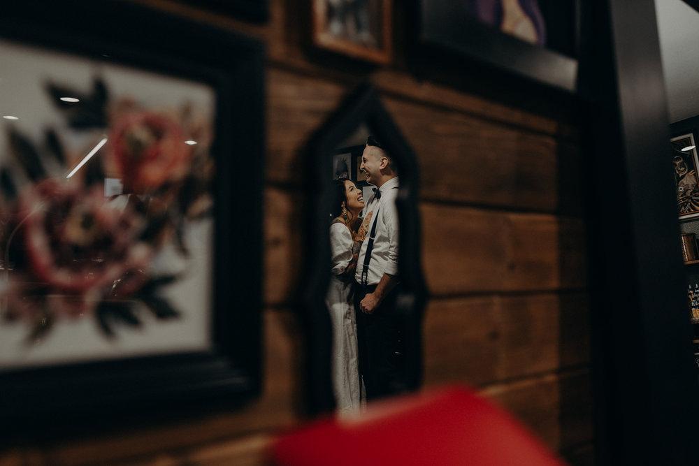 Wedding Photographer in LA - Los Angeles Wedding Photos - Tattoo Shop Engagement Session - IsaiahAndTaylor.com