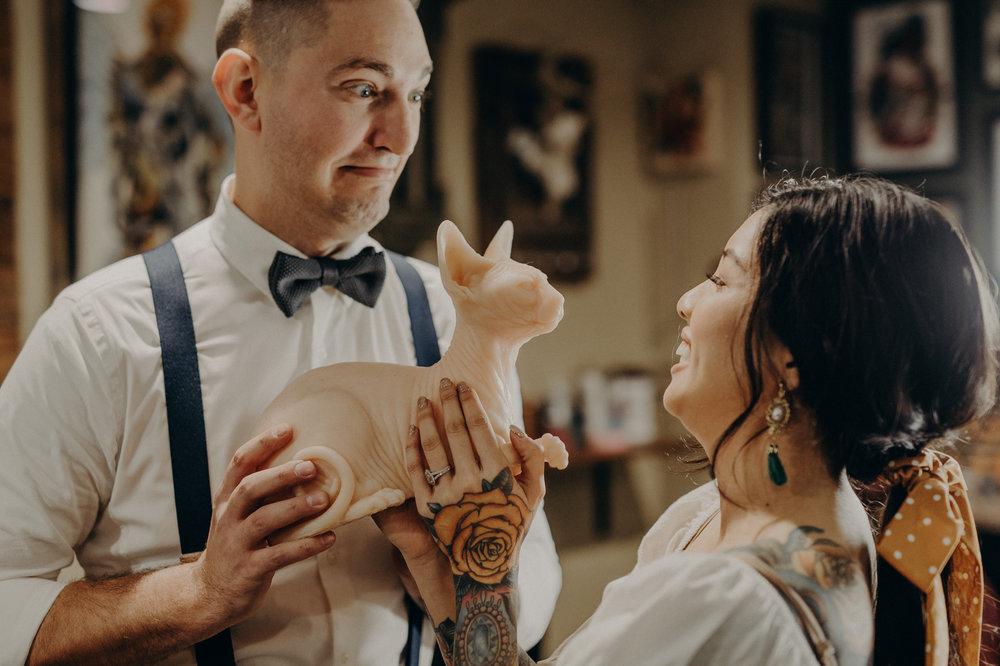 Wedding Photographer in LA - Los Angeles Wedding Photos - Tattoo Shop Engagement Session - IsaiahAndTaylor.com-005.jpg