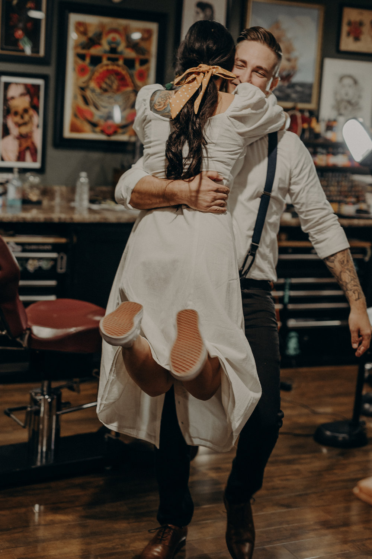 Wedding Photographer in LA - Los Angeles Wedding Photos - Tattoo Shop Engagement Session - IsaiahAndTaylor.com-011.jpg