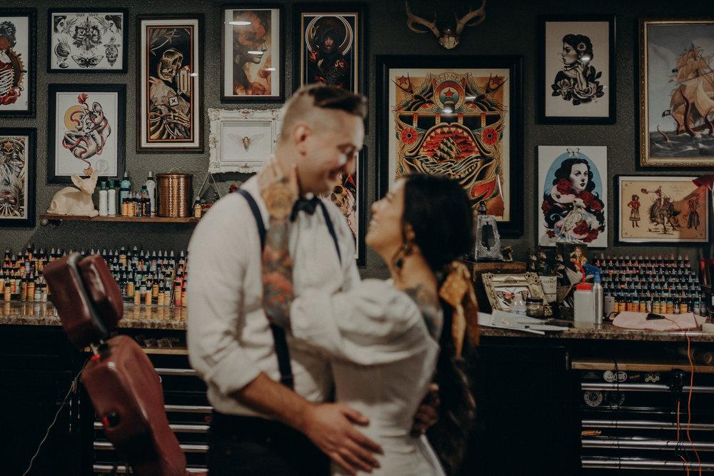 Wedding Photographer in LA - Los Angeles Wedding Photos - Tattoo Shop Engagement Session - IsaiahAndTaylor.com-014.jpg