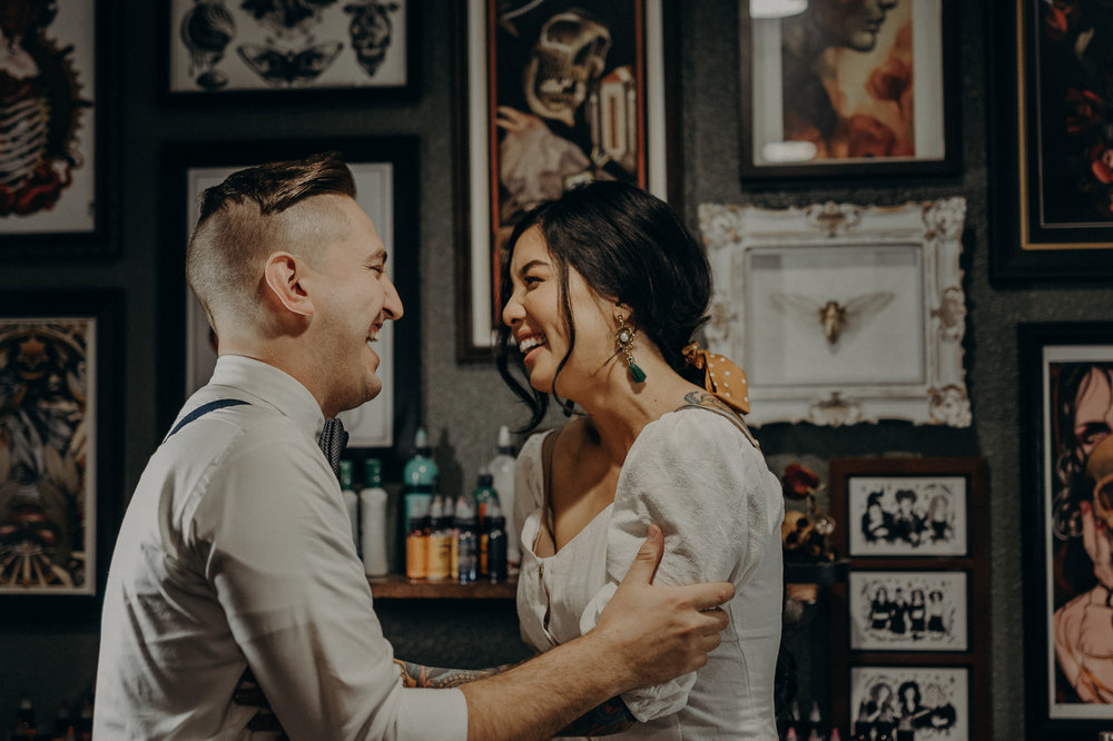 Wedding Photographer in LA - Los Angeles Wedding Photos - Tattoo Shop Engagement Session - IsaiahAndTaylor.com-021.jpg
