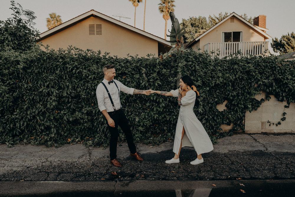 Wedding Photographer in LA - Los Angeles Wedding Photos - Tattoo Shop Engagement Session - IsaiahAndTaylor.com-031.jpg