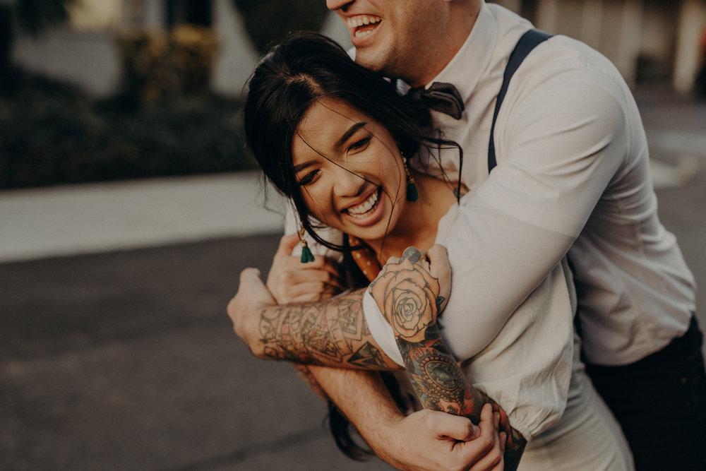 Wedding Photographer in LA - Los Angeles Wedding Photos - Tattoo Shop Engagement Session - IsaiahAndTaylor.com-048.jpg