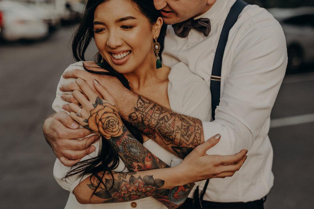 Wedding Photographer in LA - Los Angeles Wedding Photos - Tattoo Shop Engagement Session - IsaiahAndTaylor.com-049.jpg