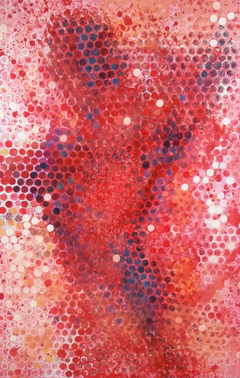 Movement in Red, 2012  60 x 40 inches