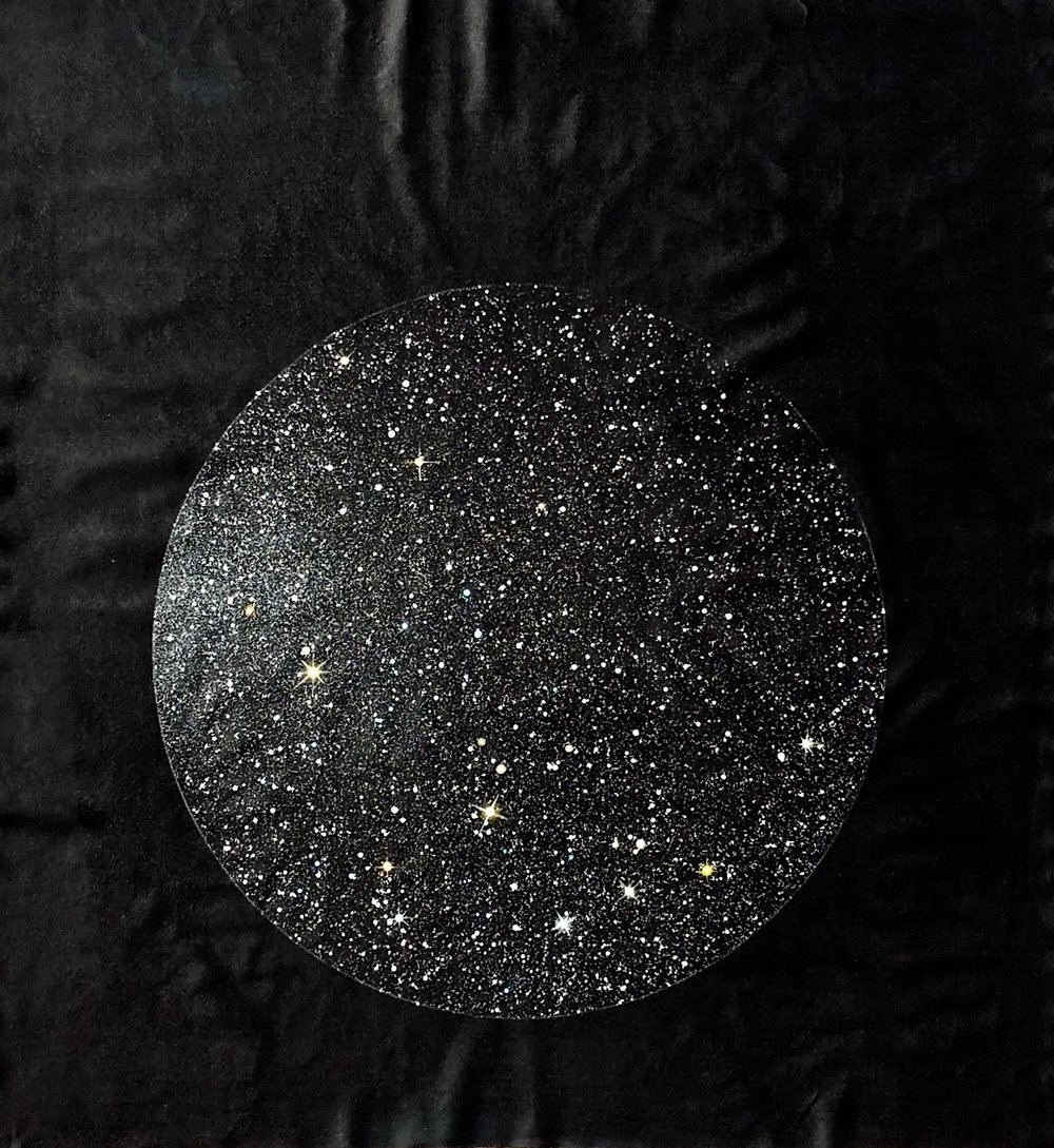 Invisible Stars, 2018  65 x 61 inches  Acrylic on unstretched canvas