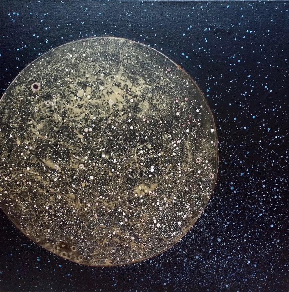 Mercury, 2018  24 x 24 inches  Acrylic on canvas