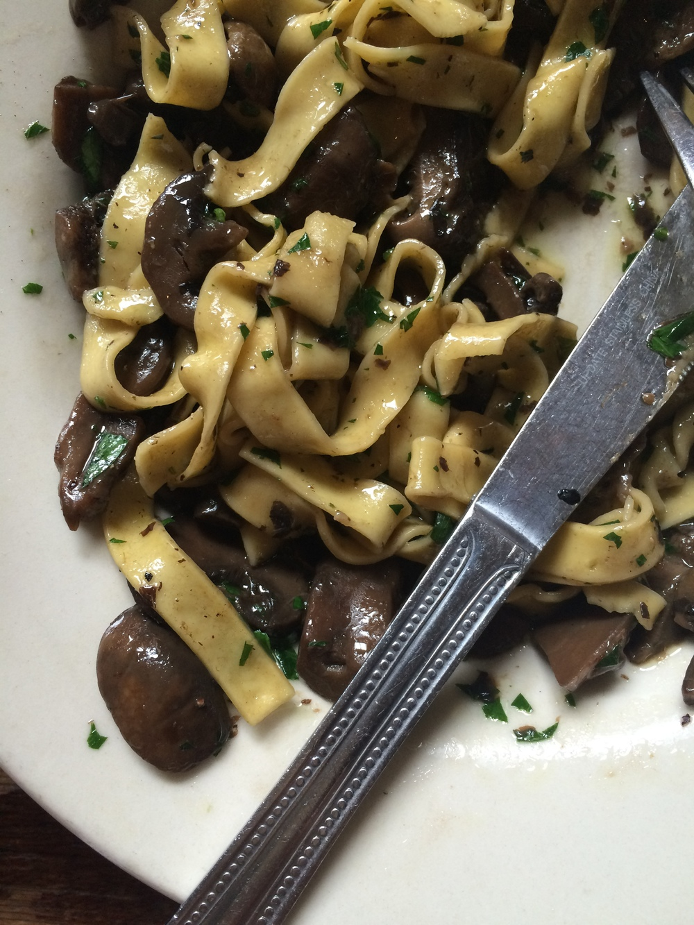 Fettuccineai funghi  from   Mercato   , NYC.