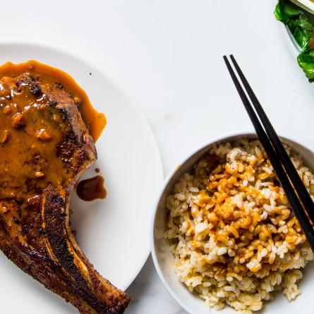Hoisin-Glazed Pork Chops
