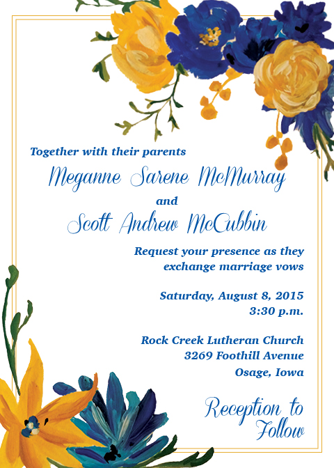 Meganne + Scott Wedding Invitation