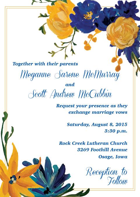 Meganne + Scott Wedding Invitation
