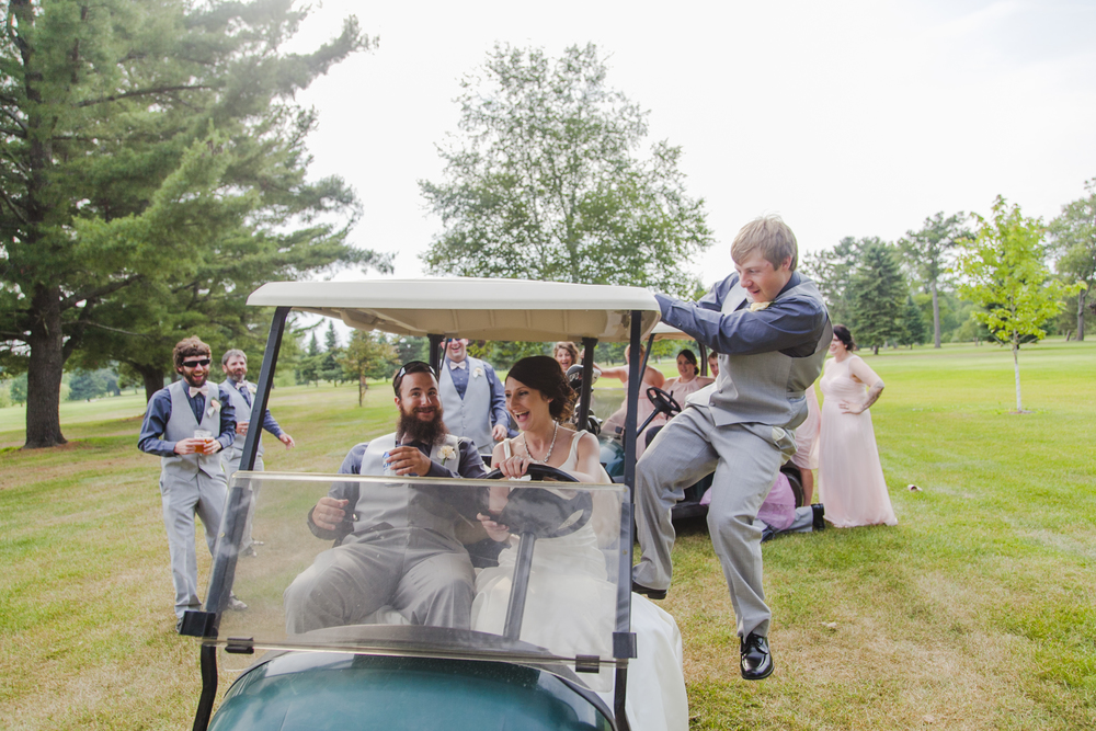 I told them they weren't getting crazy enough for these photos... Jenny's golf cart proved me wrong, hahaha.